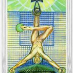 Hanged Man card from the Thoth deck