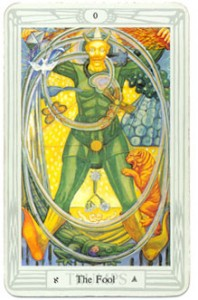 The Fool Tarot Card from the Thoth deck