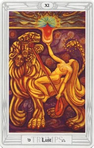 Thoth Lust Tarot Card