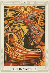 Thoth Tower Tarot card