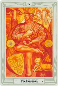 Thoth Emperor Tarot card