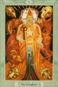 thoth hierophant tarot card