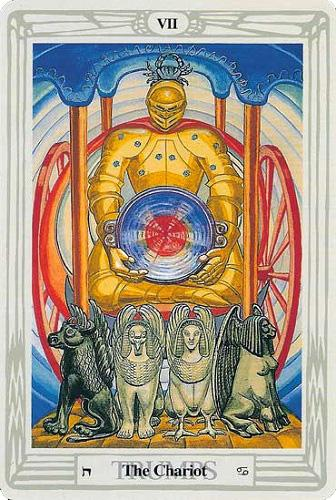The soul journey through the Thoth tarot cards: The Chariot
