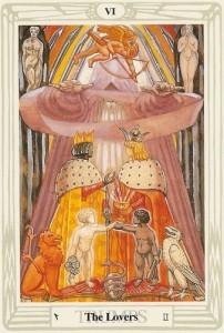 Lovers Thoth Tarot Card