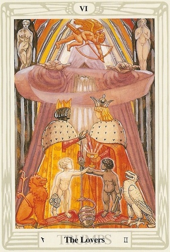 The soul journey through the Thoth tarot cards: The Lovers