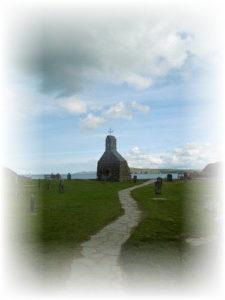 Remains of church at Cwm Eglwys
