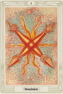 Two of Wands from the Thoth Tarot